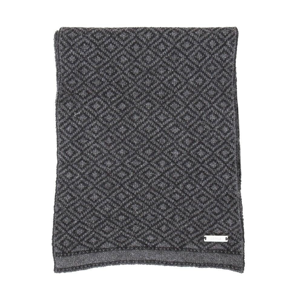 Svart och grå halsduk med diskret mönster