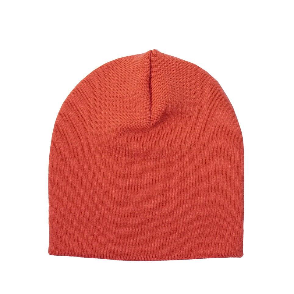 Orangea sidan av en vändbar mössa, hög synlighet