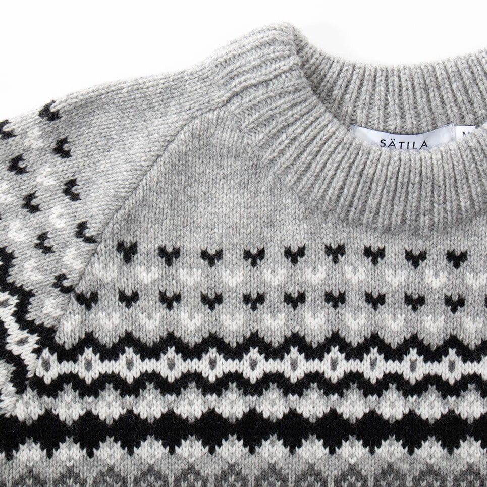 Stickad tröja för herr med klassiskt mönster från vår mönsterbank sedan 70-talet